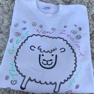 Vintage New Zealand Sheep sweatshirt kawaii